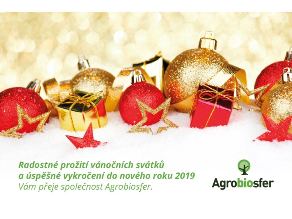 Radostné prožití vánočních svátků a úspěšné vykročení do nového roku 2019.